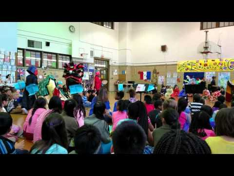 International Celebration at Kishwaukee Elementary School-Dragon Dance