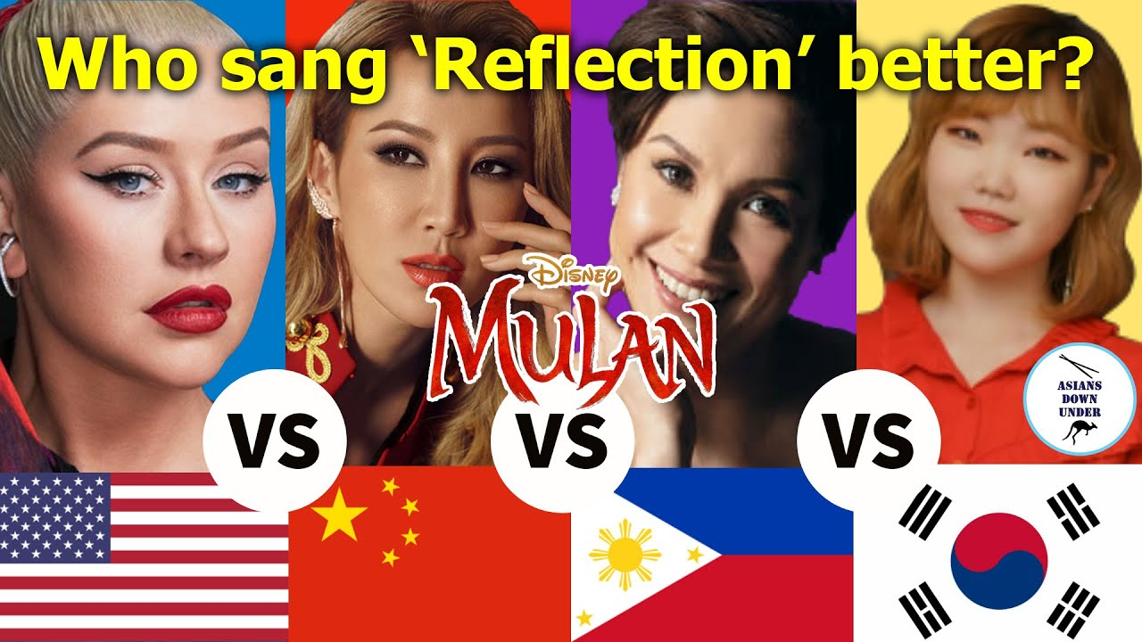 MULAN REFLECTION COMPARISON | Which singer sang it better? | Asians Down Under | Reaction Video