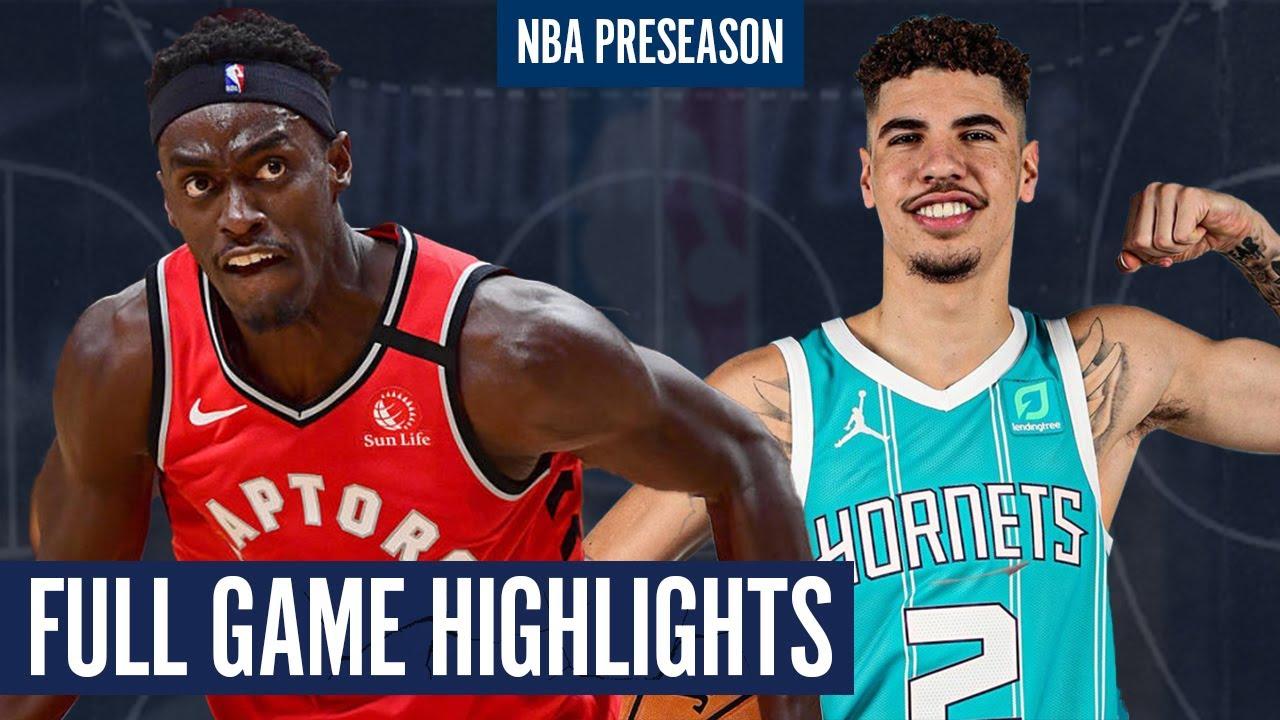 Toronto Raptors Vs Charlotte Hornets Full Game Highlights 2020 Nba Preseason Youtube