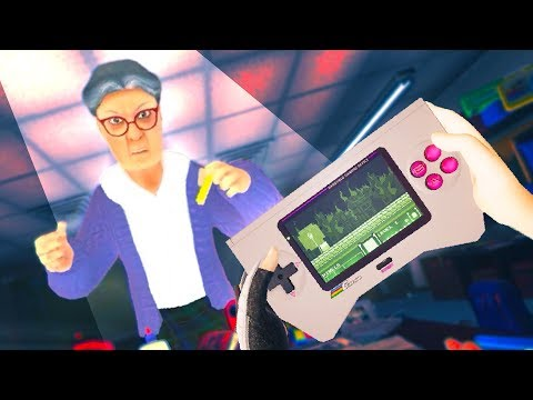 911 GRANNY IS OUR TEACHER AND I'M SCARED!!?! (Pixel Ripped 1989 Oculus Rift VR) |