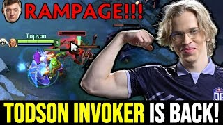 TOPSON is back! Signature Invoker ft Rampage Resolut1on Gorgc Dota 2