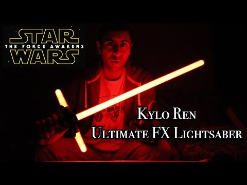 Kylo Ren Ultimate FX Lightsaber Review [Star Wars: The Force Awakens]