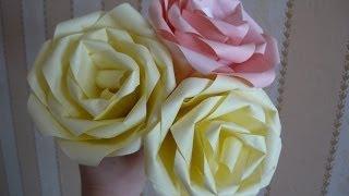 Цветок из бумаги Роза оригами Flower paper Rose Origami(Оставьте отзыв в комментариях и подпишитесь на канал http://www.youtube.com/user/Mamochkinkanal?sub_confirmation=1. Спасибо! В этом..., 2014-04-05T05:05:02.000Z)