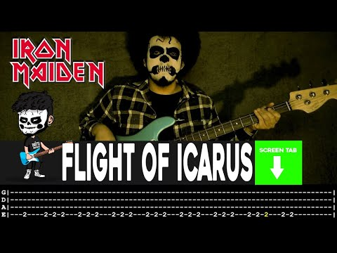 Iron Maiden - Flight Of Icarus (Bass Cover by Cesar Dotti W/Tab)