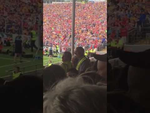 Munster hurling final sliotars disappear view from the main stand
