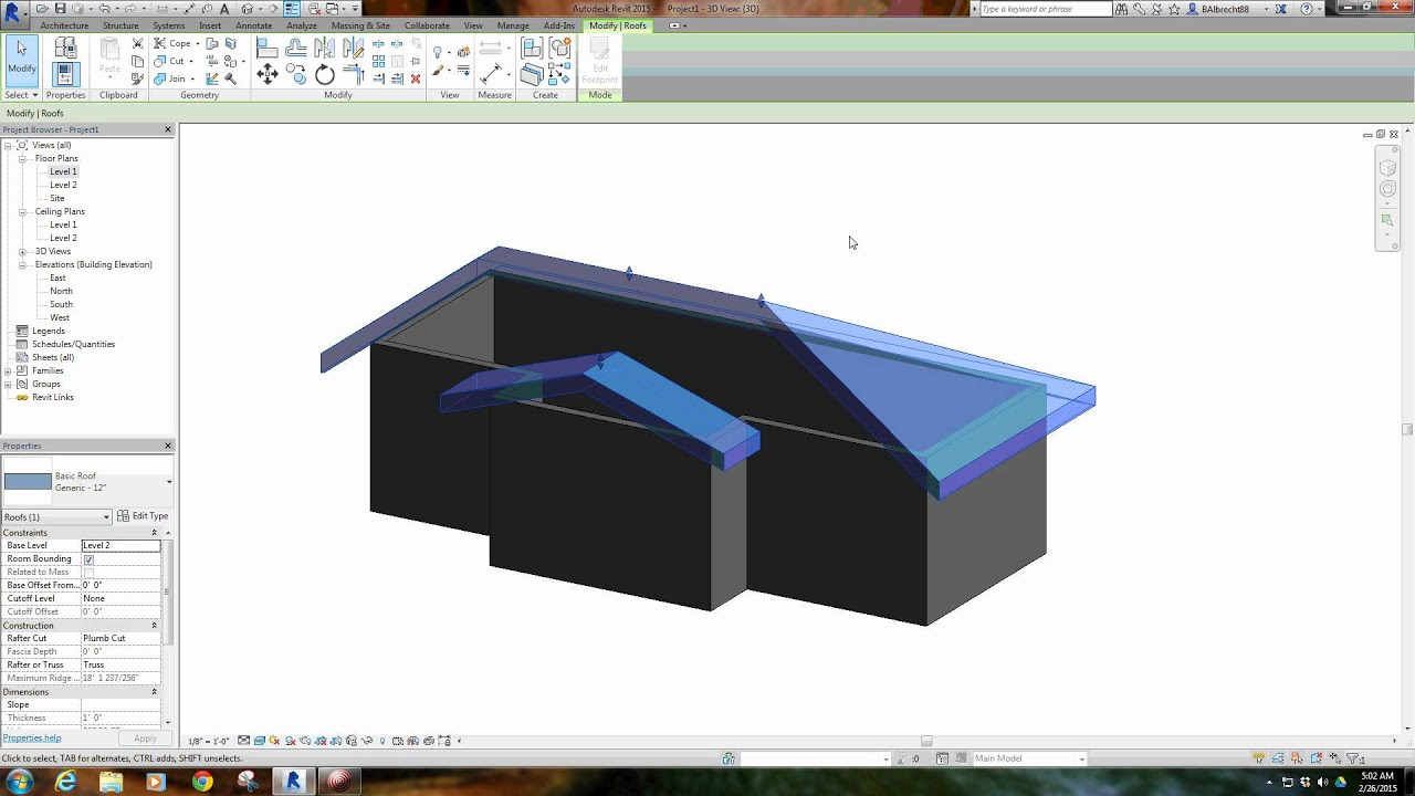 Revit Tutorial #9 - Ceilings, Roofs, Curtain Walls and Family Creation -  Arch 214 Miami University