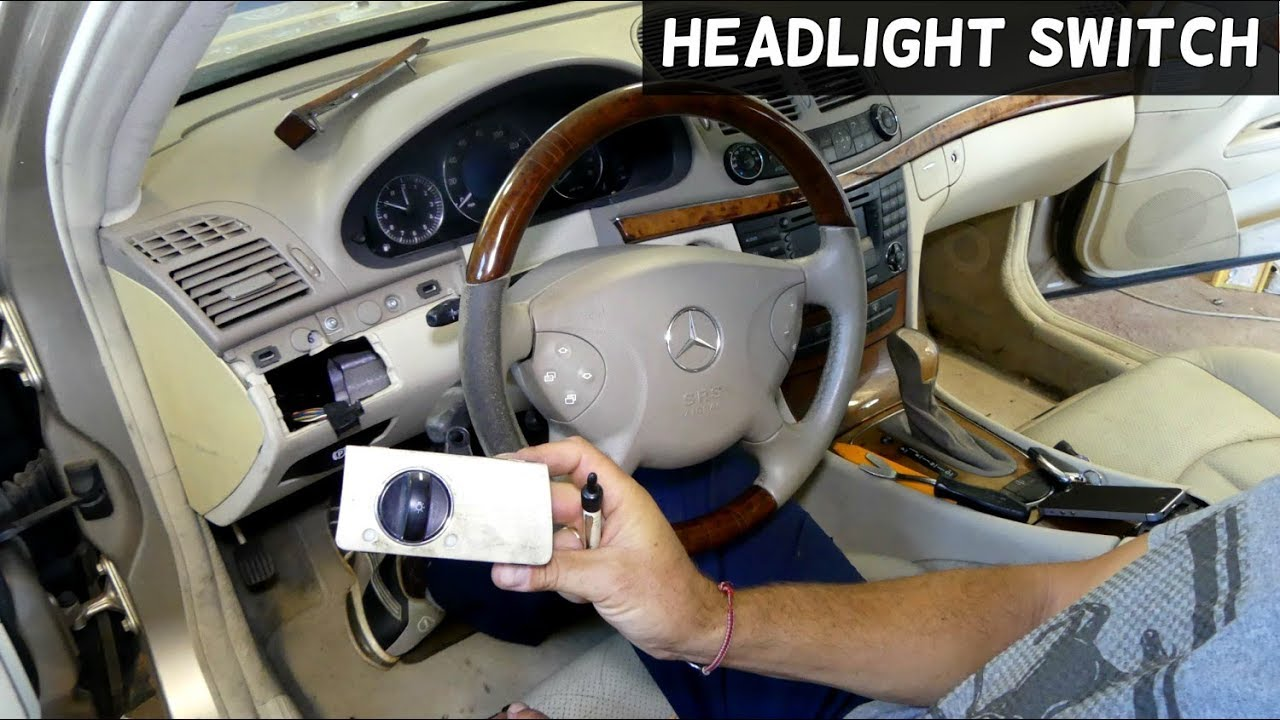 how to remove and replace headlight switch on mercedes w211 [ 1280 x 720 Pixel ]