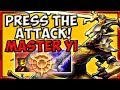MASTER YI JUNGLE PRESS THE ATTACK! - Preseason 8 Season 8 s8 Patch 7.22 Gameplay w/ Commentary Guide