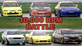 [ENG CC] 10,000 RPM N/A Battle - Civic, NSX, S2000, AE86, Altezza Tsukuba HV48