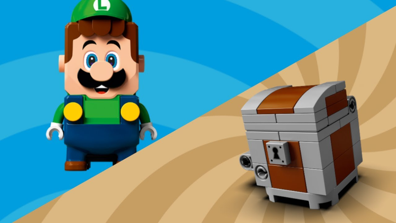 LEGO Super Mario stopmotion anime!「LegoLuigi Treasure hunt」「レゴルイージの宝さがし」