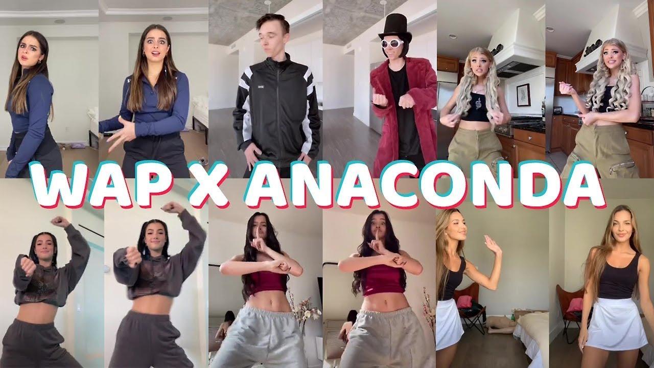 TIKTOK MASHUPS 2020 Dances - WAP VS ANACONDA TikTok Dance Challenge