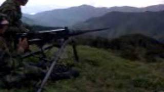 ejercito colombiano ametralladora [.50