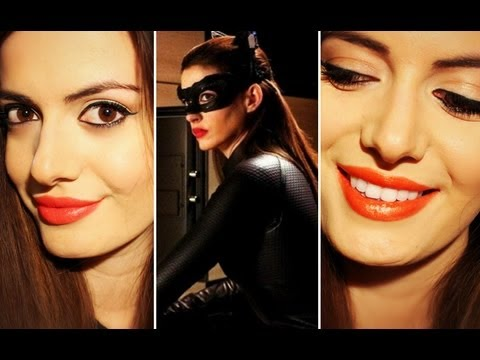 Catwoman Inspired Makeup Tutorial Anne Hathaway