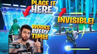 "Get FREE Elims With The ""INVISIBLE TRAP"" Trick! (Fortnite Battle Royale)"