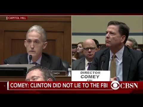 "Trey Gowdy Rips Into FBI Director James Comey on Hillary Clinton's ""Intent"""