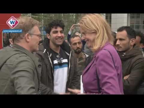 REFUGEES  ANGERY ON  BAD ACCOMODATION IN THE HAGUE