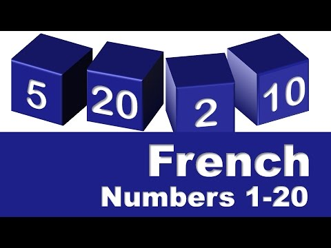 French Numbers 1-20
