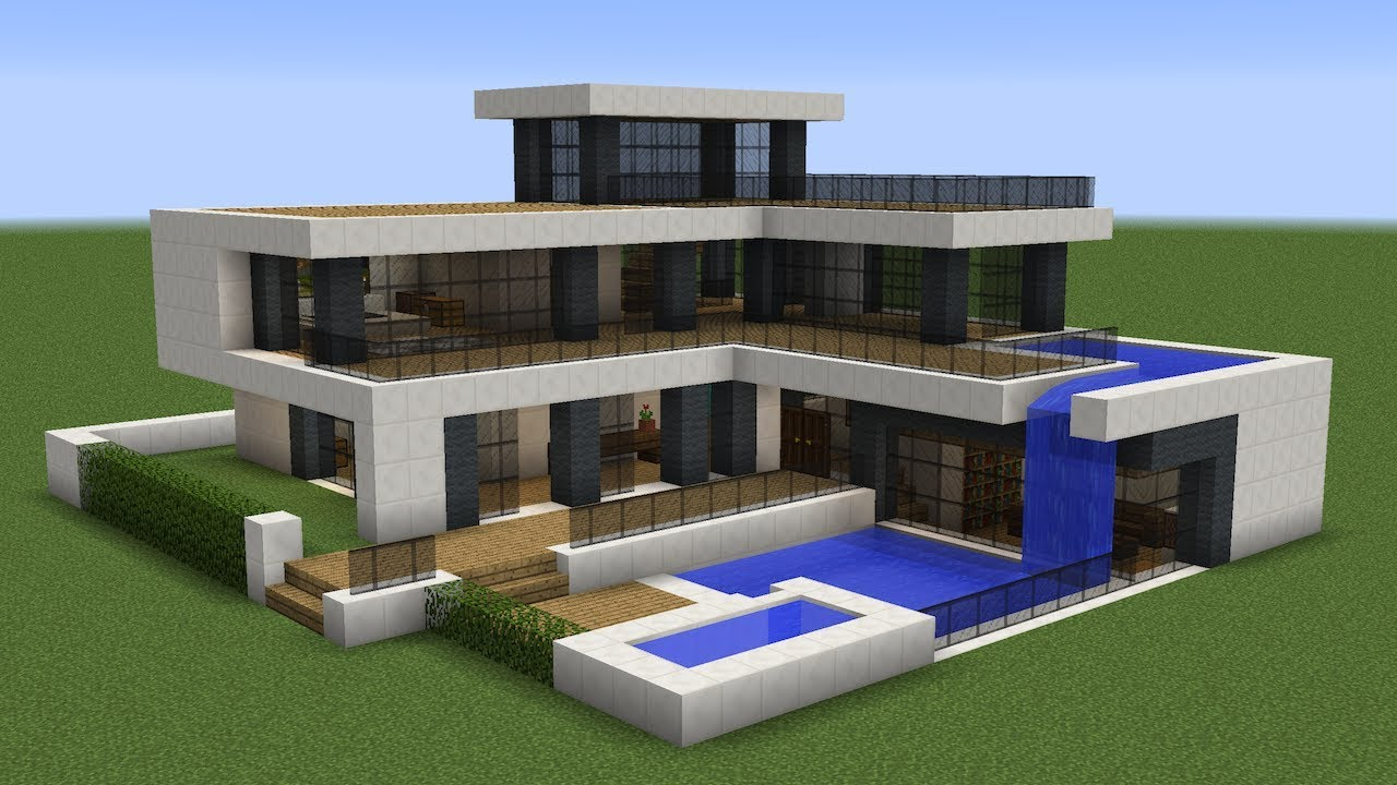 Minecraft How To Build A Modern House 21 Youtube