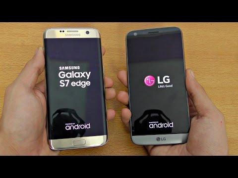 LG G5 vs Samsung Galaxy S7 Edge - Speed Test (4K)