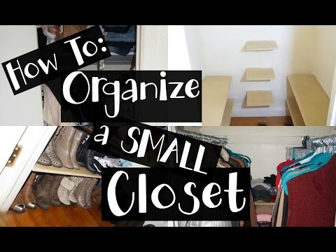 HACKS To Organize A Small Closet | DIY (NYC Apartment)
