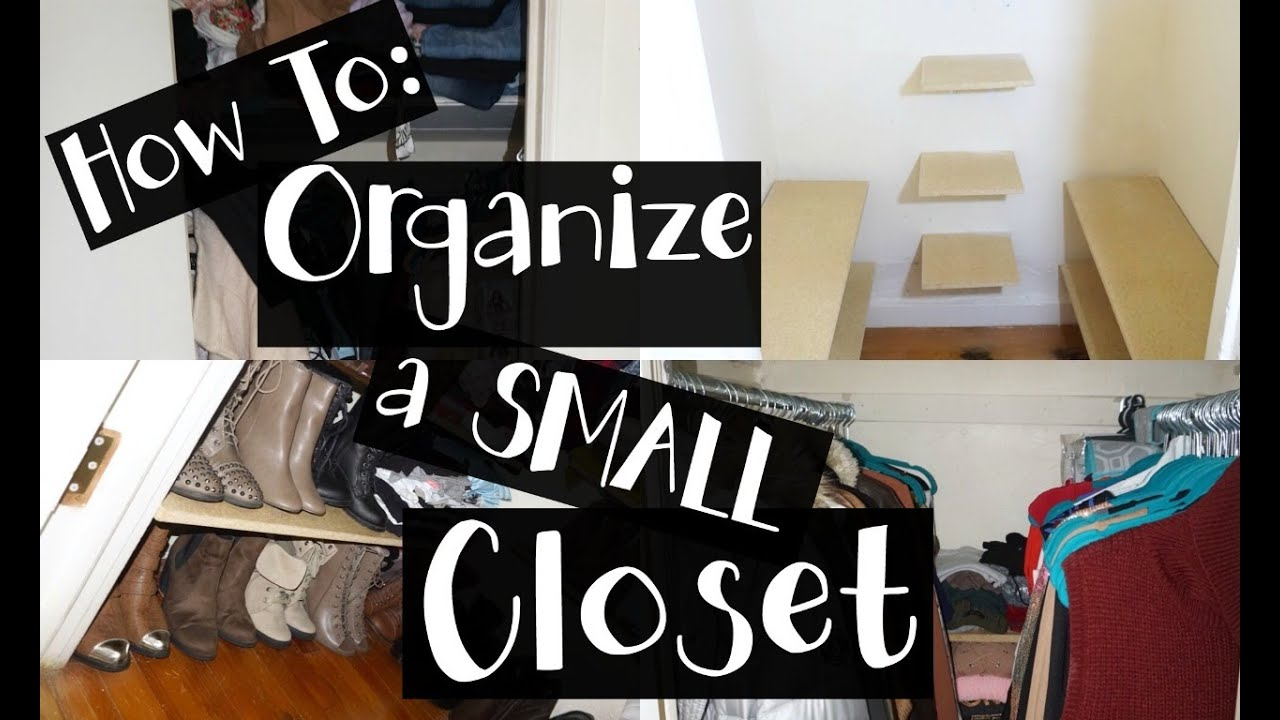 HACKS To Organize A Small Closet | DIY (NYC Apartment)   YouTube