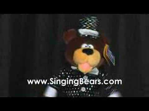 singingbears.com - Dancing Dog sings Celebration