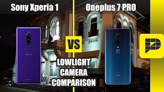 Oneplus 7 Pro VS Sony Xperia 1 - Lowlight camera comparison (After all the updates)