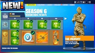 ALL Season 6 Battle Pass Leaks And RELEASE DATE in Fortnite Battle Royale!