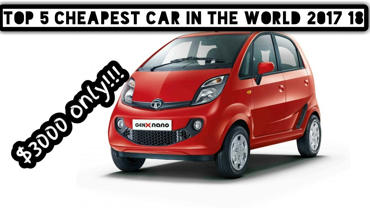 What is the cheapest car in the world? 54