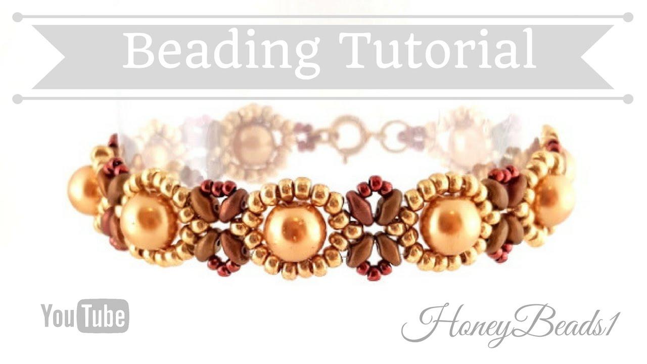 Beginners Bracelet Sunflower Tutorial 3 Beading