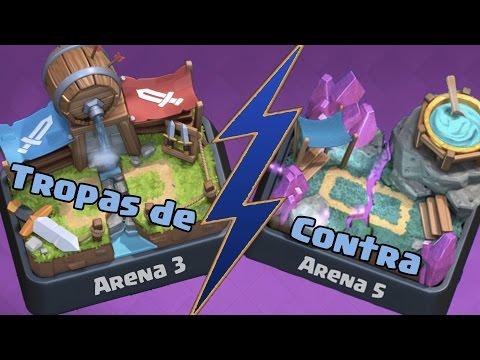CARTAS DE ARENA 3 PARA SUBIR TROFEOS | Mazos Variados | Arena 5 | Clash Royale