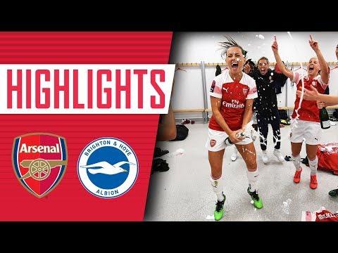 🏆 CHAMPIONS! Arsenal Women 4-0 Brighton   Goals, highlights & celebrations