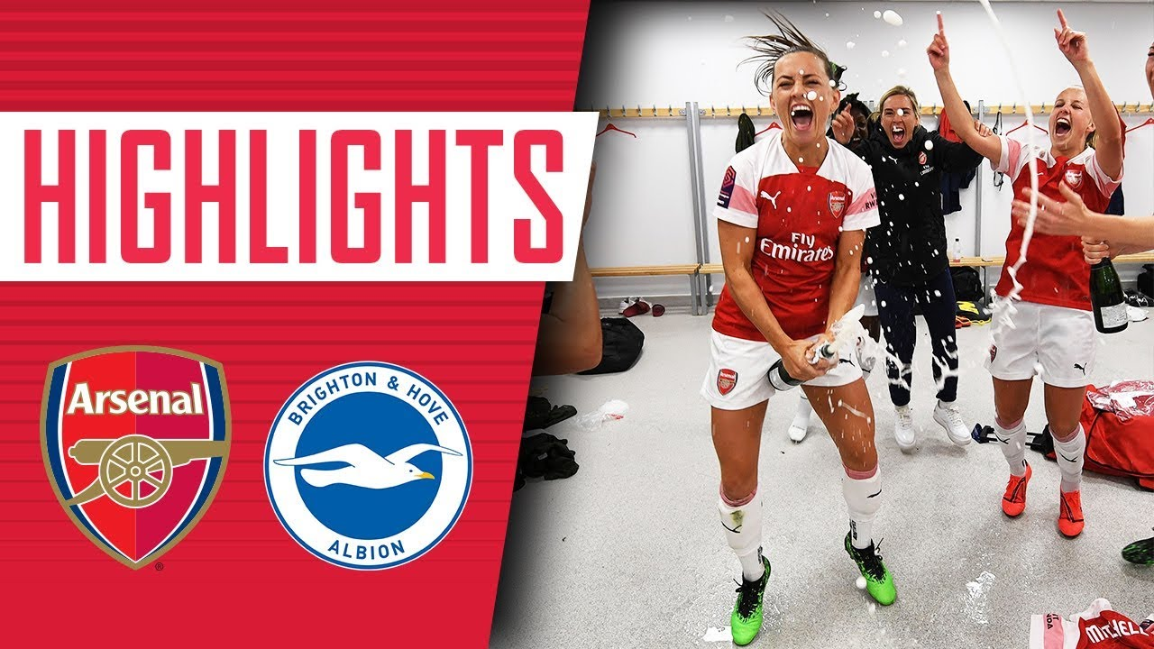 Champions Arsenal Women 4 0 Brighton Goals Highlights Celebrations