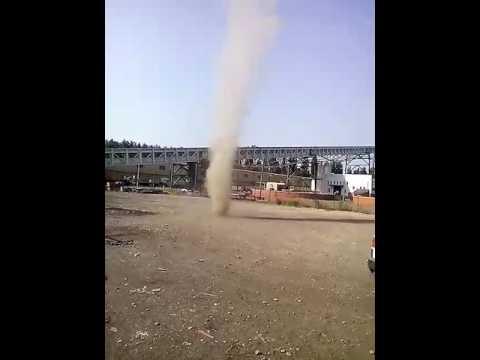 Tornado trąba powietrzna belchatow