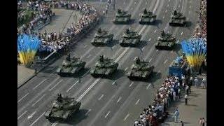 Танки идут на парад к Дню Независимости Украины