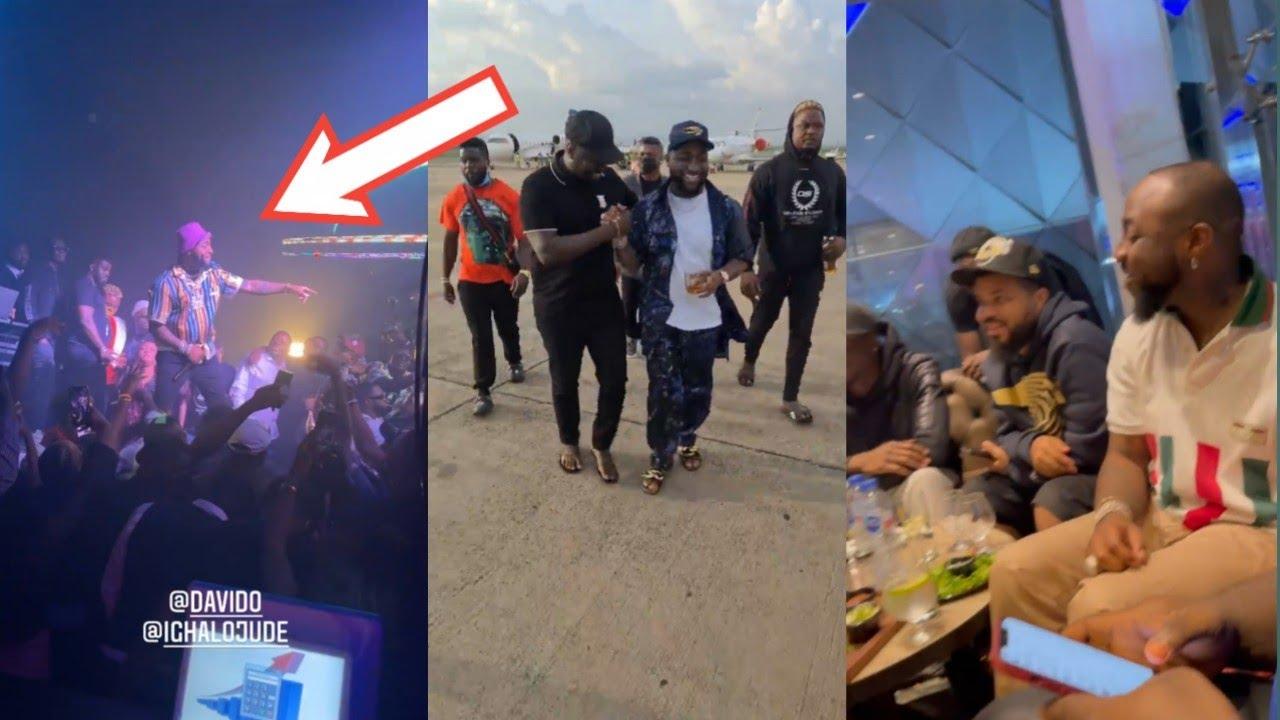 WizKid Went E No Choke..Davido & Ighalo Return & ShutDown Same Club In Abuja  With Obi Cubana