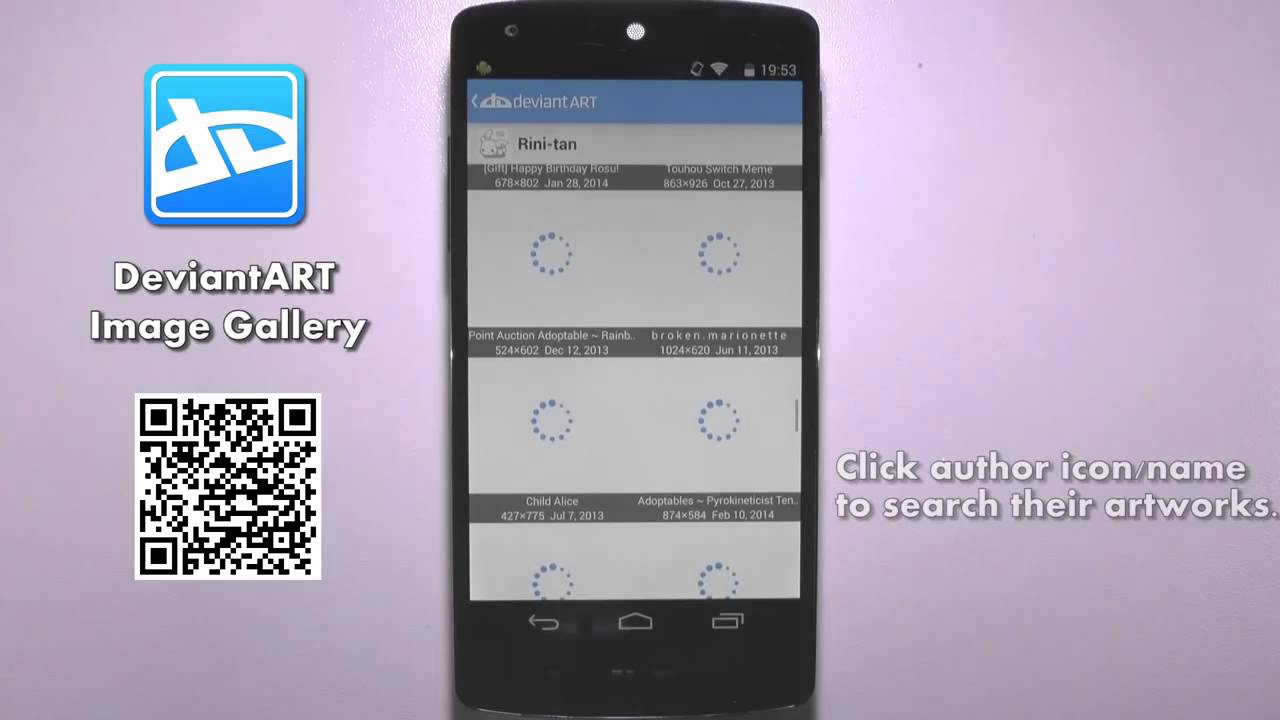 DeviantART Image Gallery on Android
