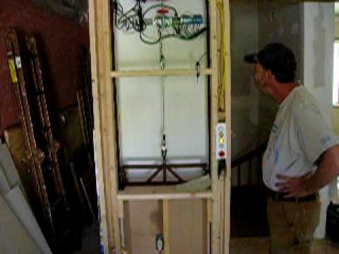 Diy dumb waiter youtube for Diy home elevator plans