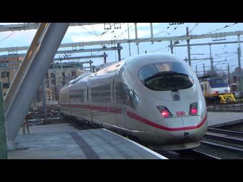 ICE vertrekt naar Frankfurt via de Betuweroute te Utrecht Centraal
