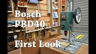 New Power Tool For The Garage - Bosch PBD 40 Drill Press