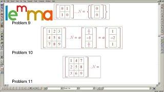 Linear Algebra 7f: 21 Easy Null Space Exercises