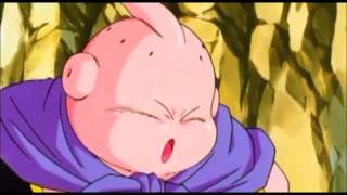 Majin buu heals a blind boy with his super magic