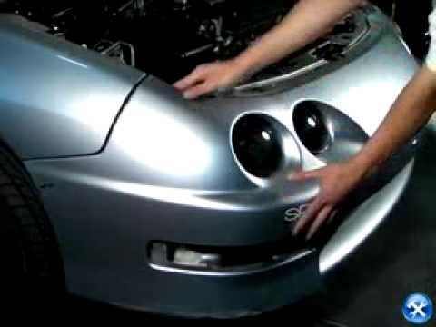 Xenon   1998-2001 Acura Integra Angel Eye Halo Projector ...