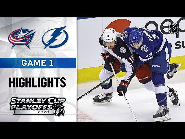NHL Highlights | First Round, Gm1: Blue Jackets @ Lightning - Aug. 11, 2020