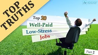 Top 20 Well Paid Low Stress Jobs (Part 2)