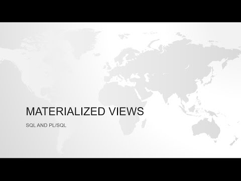 Materialized Views In Oracle Part 1 Introduction Youtube
