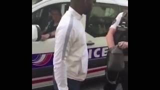 OhMonDieuSalva s'embrouille avec la police -il doit jeter son joint de force