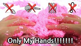 [Hands-only Slime] Making Slime with Just My Hands! (Things might get dirty★heh)