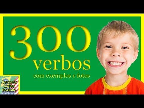 300 Verbos em Inglês com exemplos e fotos. Verbos em inglês. Aprenda Ingles Sozinho