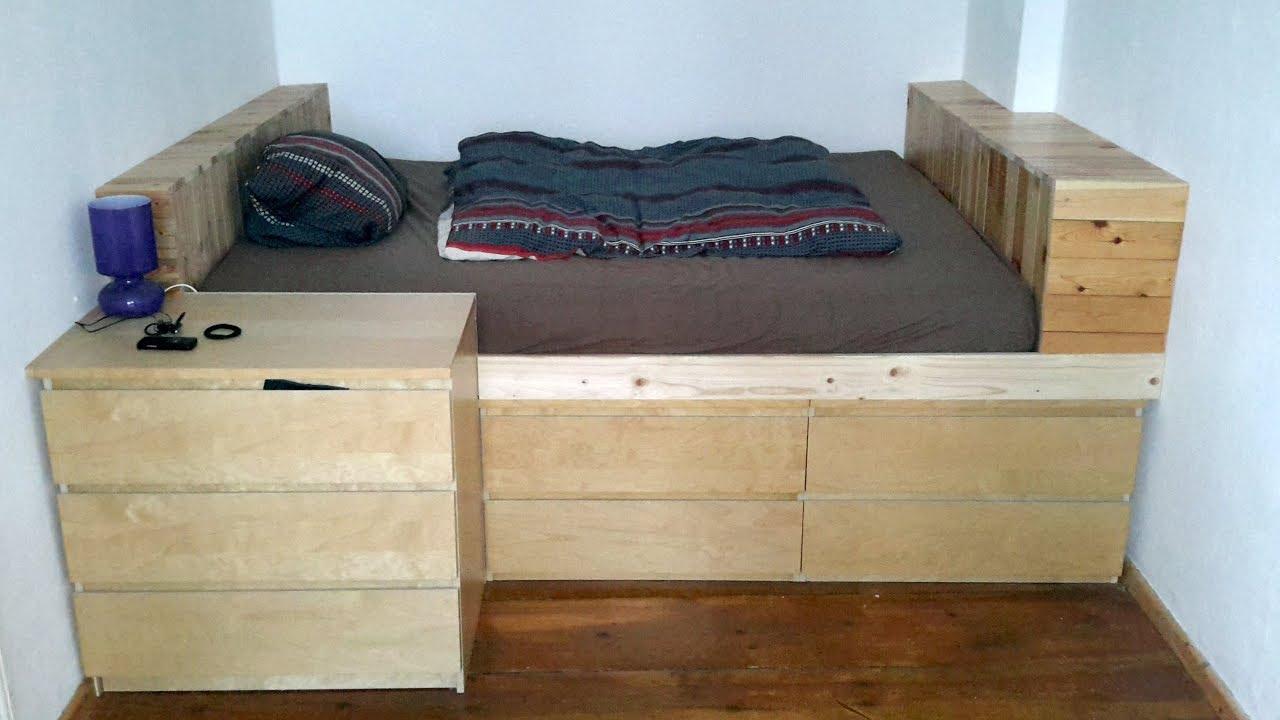 Podest und Bett mit Schubladen selber bauen: Eine Bauanleitung im Zeitraffer